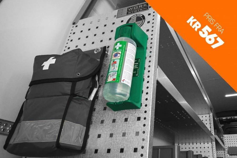 Produkter innen sikkerhet som tyverisikring, alarm og brannslukningsapparat til transportbilen din