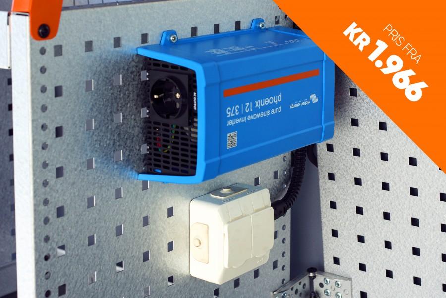 Strømforsyning til din arbeidsbil som inverter, batterier og ladere