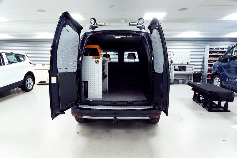 Støtfangerbeskyttelse i dørkaluminium Caddy 2004-